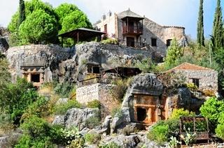 Die Felsengräber in Kale Türkei