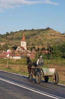 Pferdewagen in Rumänien