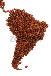 South America made with coffee