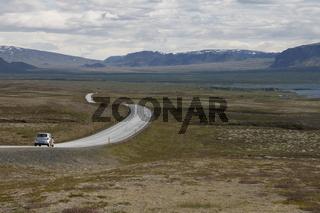 The rift valley in Þingvellir (Thingvellir). Suðurland