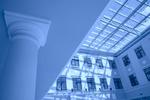 interior in blue color