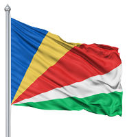 Waving flag of Seychelles