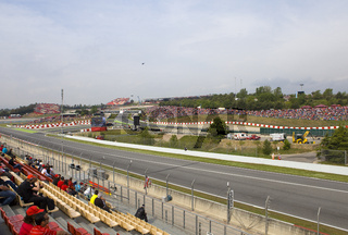 BARCELONA- MAY 9:Racing line before beginning The Formula 1 Grand Prix on may 9