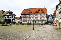 Market Place with fountain, City of Wolfhagen, Germany