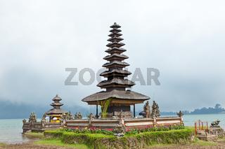 temple Ulun Danu on lake Beratan