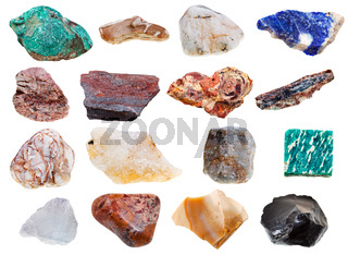 collection of rock minerals