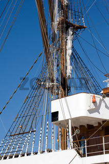 Tall sail ship rigging