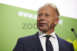 Top candidates of the Green Party give a press conference in Berlin