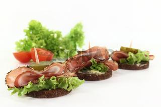 Canape mit Bacon
