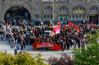 Protesters Gathering at May Day Demonstration