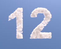 Number 1 and 2 cloud shape