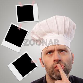 Koch mit einer Idee