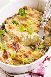 belgian indive - chicory baked