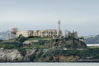 Alcatraz Island prison in San Francisco Bay