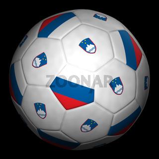 Fussball mit Fahne Slowenien