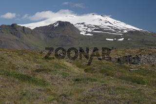 Snæfellsjökull volcano. Snæfellsnes peninsula