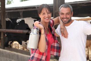 Farmers smiling