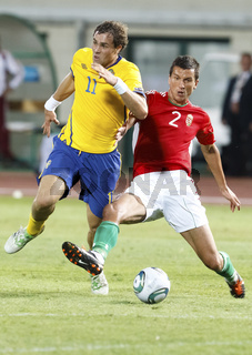Hungary vs. Sweden (2:1) football game