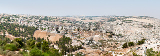 Panoramic view of Jerusalem old and new city