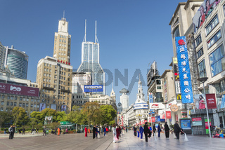 nanjing road in shanghai china