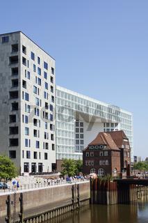 Gebäude auf der Ericusspitze in der Hamburger Hafencity