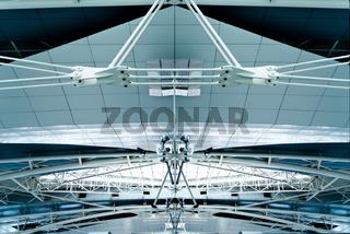 Airport ceilling in Porto, Portugal