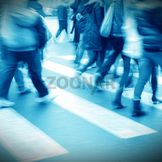 people on zebra crossing