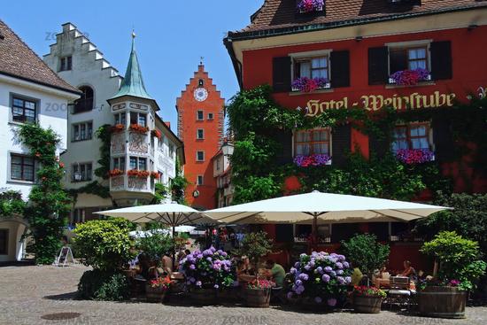 Restaurant in the old part of Meersburg