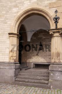 architektonisches Detail am Schokoladenmuseum