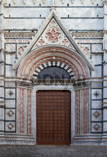 Entrance of Cathedral of Siena, Tuscany, Italy