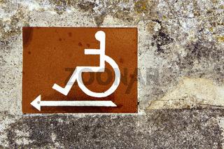 Symol Rollstuhlfahrer