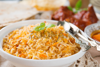 Fresh cooked Indian rice