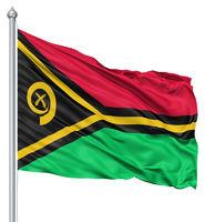 Waving flag of Vanuatu