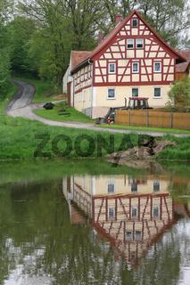 Haus in Neualbenreuth im Egerländer Fachwerkstil