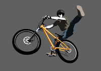 Jumping biker, illustration