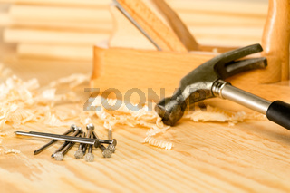 Selection of carpenter tools
