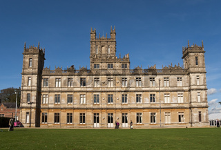 NEWBURY - OCTOBER 13: Highclere Castle is the main setting for the ITV period drama Downton Abbey