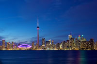 Glowing CN-Tower