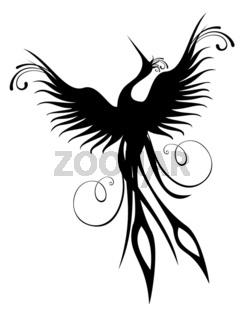 Phoenix bird figure isolated
