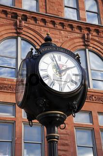 Historic street clock in Peoria