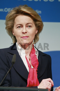 German FM von der Leyen and Secound General Secretary of OECD,  Yves Leterme at Press Conference.