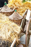 Autumn wooden cart