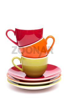 Kaffeetassen im Hochformat