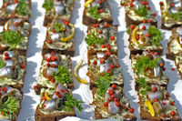 baltic herring on slices of bread