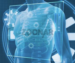 Blue digital body