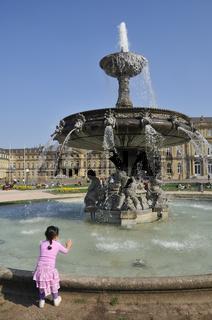Brunnen am Schlossplatz, Stuttgart