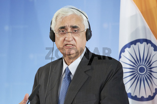 Westerwelle meets Salman Khurshid, Indian Minister of Foreign Affairs, at the Foreign Office in Berlin.