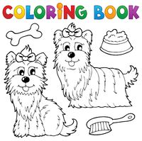 Coloring book dog theme 6 - picture illustration.