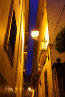 Street in Seville at night