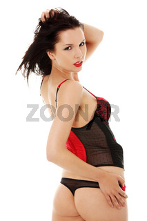 Sensual woman in linergie